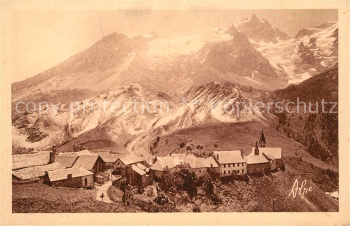 La_Grave Village dans les Alpes Francaises La_Grave