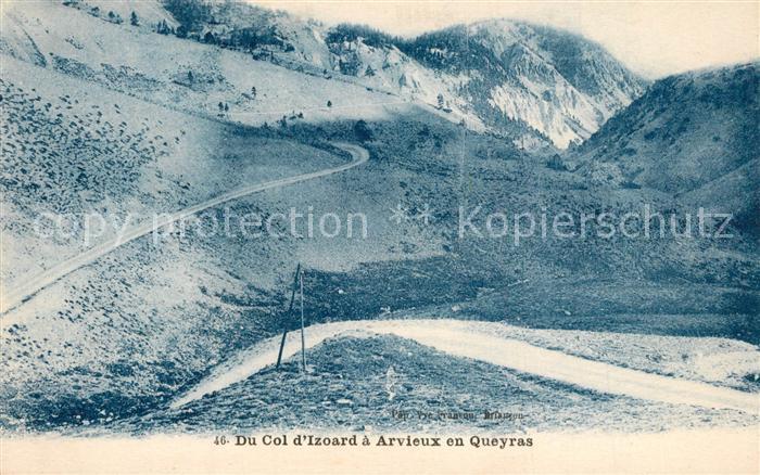 Col_d_Izoard Route a Arvieux en Queyras Gebirgspass Franzoesische Alpen Col_d_Izoard