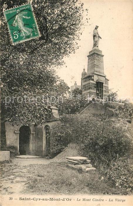 Saint Cyr au Mont d_Or Mont Cindre la Vierge Saint Cyr au Mont d Or