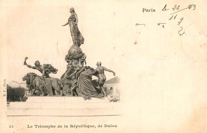 Paris Le Triomphe de la Republique de Dalou Paris
