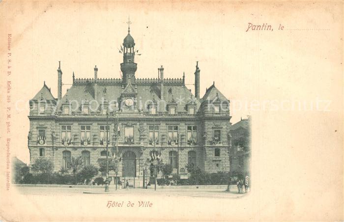 Pantin Hotel de Ville Rathaus Pantin