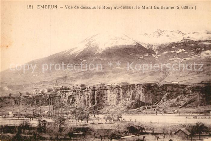 Embrun Vue de dessous le Roc Mont Gauillaume Alpes Embrun