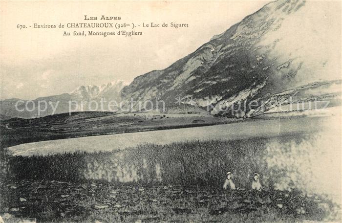 Chateauroux les Alpes Lac de Siguret Montagnes d Eygliers Chateauroux les Alpes