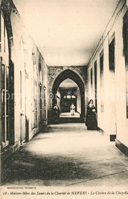 Nevers_Nievre Maison Mere des Soeurs de la Charite de Nevers Cloitre de la Chapelle Nevers Nievre