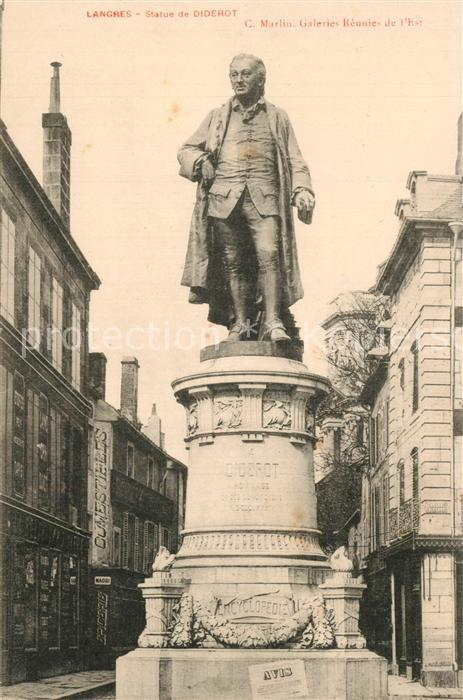 Langres Statue de Diderot Monument Langres