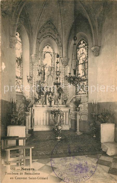 Nevers_Nievre Tombeau de Bernadette au Couvent Saint Gildard Nevers Nievre