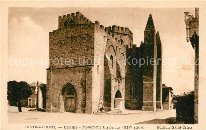 Simorre Eglise Monument historique XIVe siecle Simorre