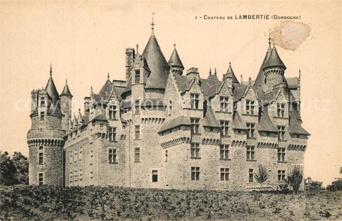Mialet_Dordogne Chateau de Lambertie Schloss Mialet_Dordogne