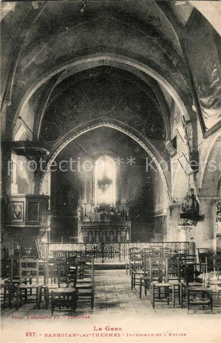 Barbotan_les_Thermes Interieur de l Eglise Barbotan_les_Thermes