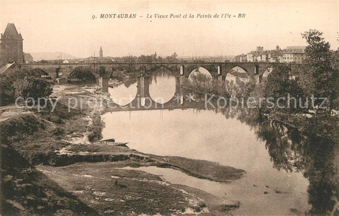 Montauban_Tarn et Garonne Vieux Pont Pointe de l Ile