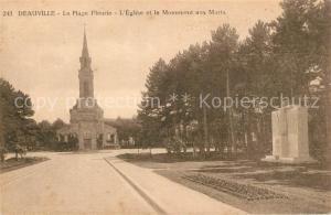 Deauville Plage Fleurie Eglise Monument aux Morts Deauville