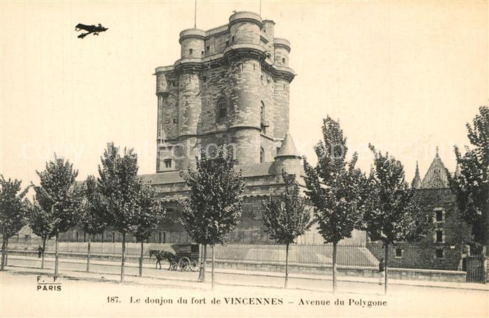 Vincennes Avenue du Polygone Donjon du Fort  Vincennes