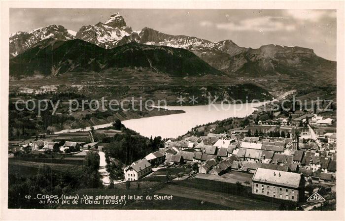 AK / Ansichtskarte Corps_Isere ave le Lac du Sautete Corps Isere