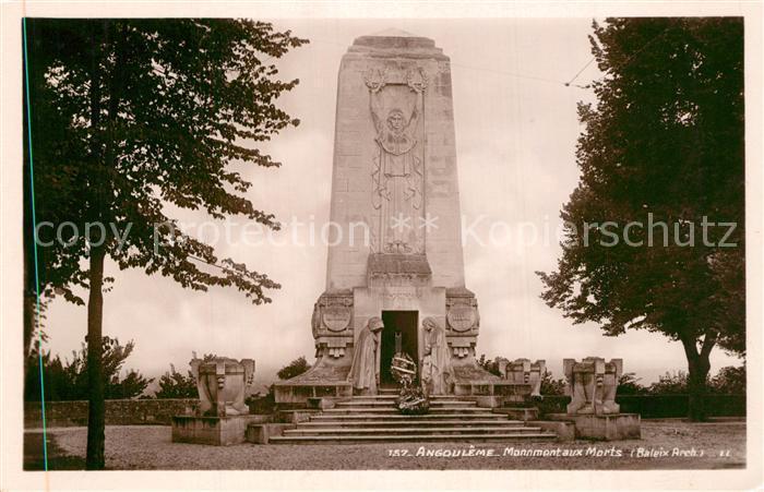 AK / Ansichtskarte Angouleme Monument aux Morts Angouleme