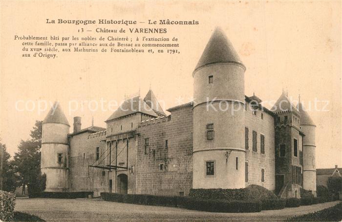 AK / Ansichtskarte Varennes les Macon Chateau Schloss Varennes les Macon