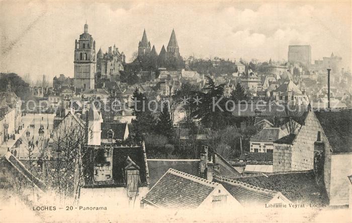 AK / Ansichtskarte Loches_Indre_et_Loire Panorama Chateau royal Monument historique Loches_Indre_et_Loire