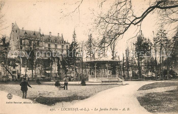 AK / Ansichtskarte Loches_Indre_et_Loire Jardin public Pavillon Loches_Indre_et_Loire