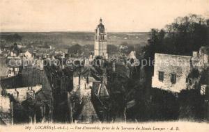 AK / Ansichtskarte Loches_Indre_et_Loire Vue d ensemble prise de la Terrasse du Musee Lansyer Loches_Indre_et_Loire