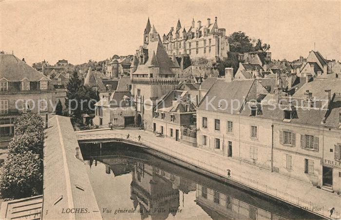 AK / Ansichtskarte Loches_Indre_et_Loire Vue generale de la Ville haute Chateau royal Monument historique Loches_Indre_et_Loire