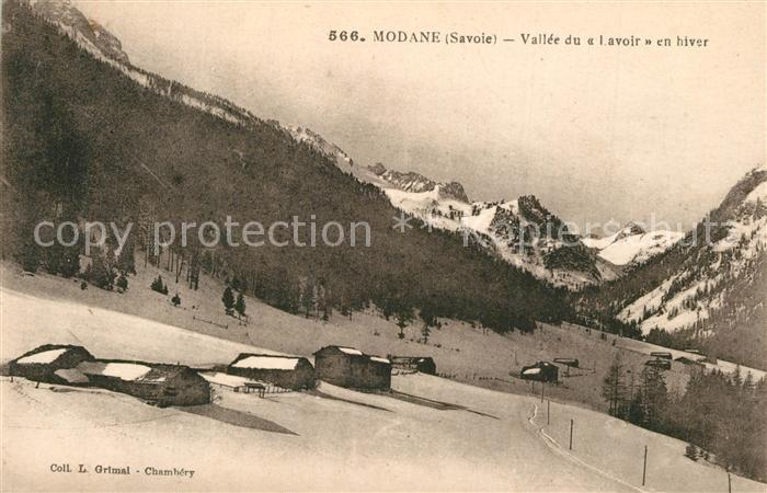 AK / Ansichtskarte Modane Panorama Vallee du Lavoir en hiver Alpes Modane