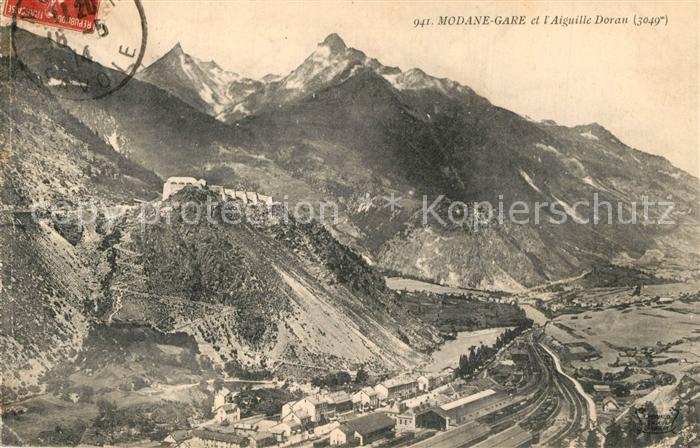 AK / Ansichtskarte Modane_Gare et l Aiguille Doran Alpes Modane Gare