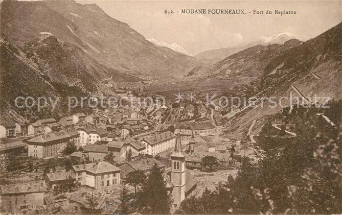 AK / Ansichtskarte Fourneaux_Modane Panorama Fort du Replaton Alpes Fourneaux Modane