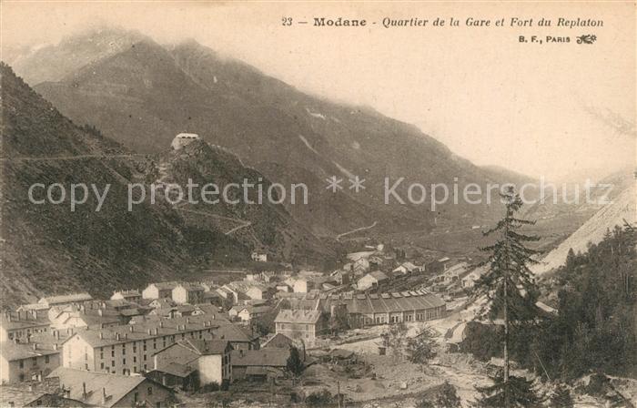AK / Ansichtskarte Modane Quartier de la Gare et Fort du Replaton Modane