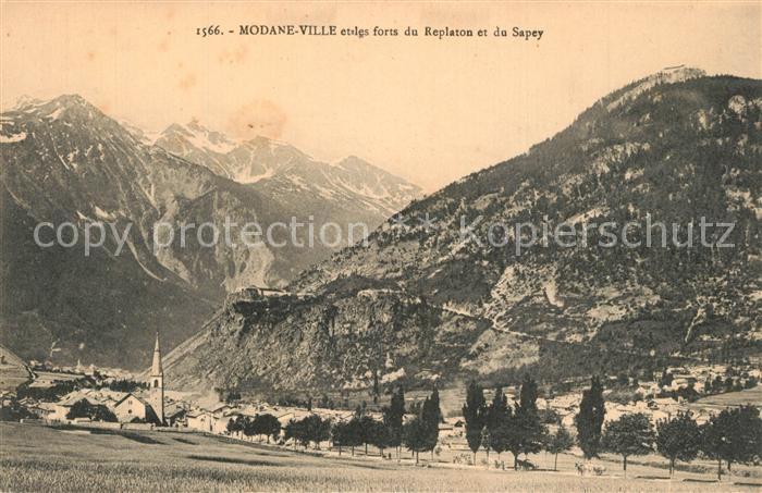 AK / Ansichtskarte Modane Panorama Forts du Replaton et du Sapey Alpes Modane