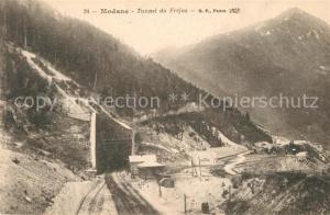 AK / Ansichtskarte Modane Tunnel du Frejus Alpes en hiver Modane