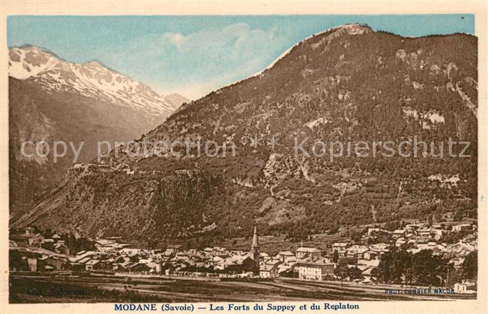 AK / Ansichtskarte Modane Panorama Forts du Sappey et du Replaton Alpes Modane