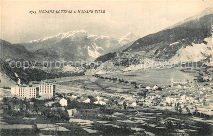 AK / Ansichtskarte Modane Panorama Loutraz et Modane Ville Alpes Modane