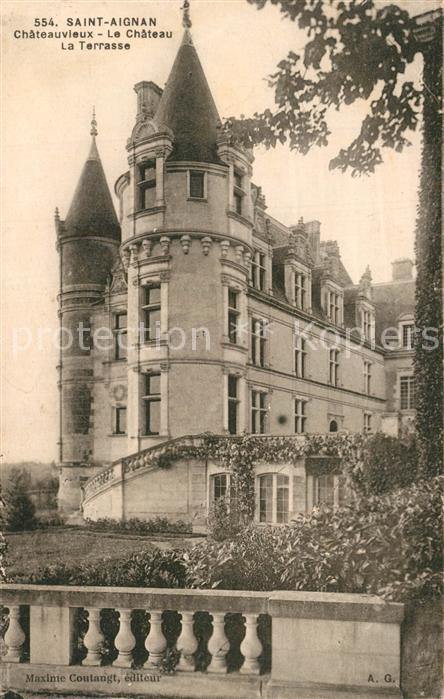 AK / Ansichtskarte Saint Aignan_Loir et Cher Chateauvieux Chateau Terrasse  Saint Aignan Loir et Cher