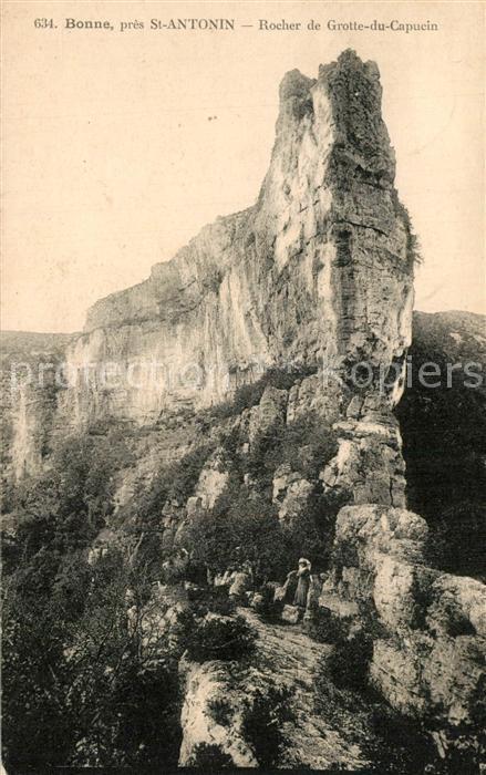 AK / Ansichtskarte Saint Antonin Noble Val Rocher de Grotte du Capucin Bonne   Saint Antonin Noble Val