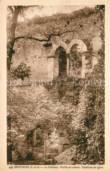 AK / Ansichtskarte Bruniquel Chateau Ruines Bruniquel