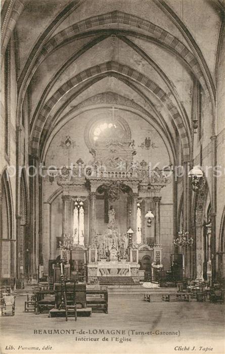 AK / Ansichtskarte Beaumont de Lomagne Eglise Interieur Beaumont de Lomagne