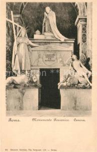 AK / Ansichtskarte Roma_Rom Monumento Rezzonico Canova Roma_Rom