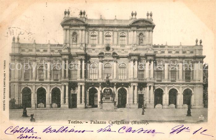 AK / Ansichtskarte Torino Palazzo Carignano Torino