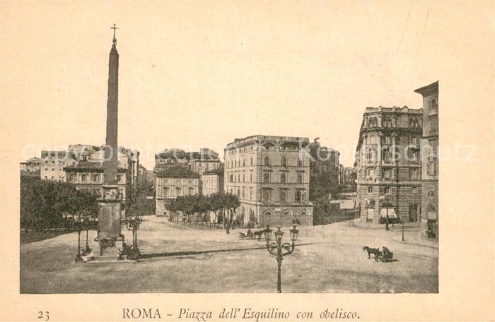 AK / Ansichtskarte Roma_Rom Piazza dell Esquilino Obelisco Roma_Rom