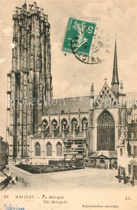 AK / Ansichtskarte Malines_Mechelen_Flandre Metropole Malines_Mechelen_Flandre