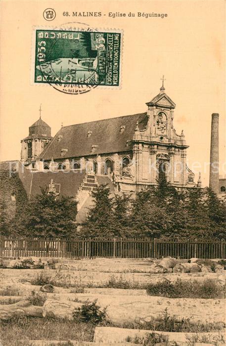 AK / Ansichtskarte Malines_Mechelen_Flandre Eglise du Beguinage  Malines_Mechelen_Flandre