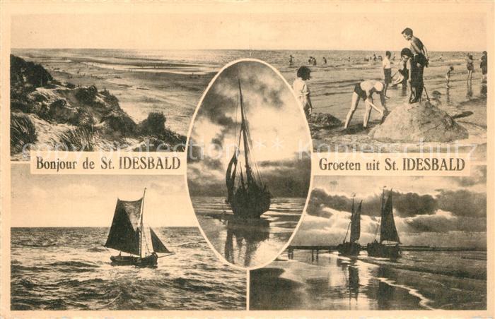 AK / Ansichtskarte Saint_Idesbald Strand  Saint Idesbald