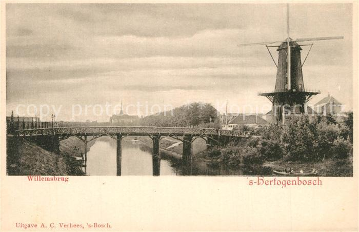 AK / Ansichtskarte S Hertogenbosch Willemsbrug Windm?hle  S Hertogenbosch