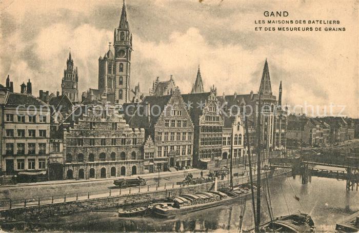 AK / Ansichtskarte Gand_Belgien Maisons des Bateliers et des Mesure de Grains  Gand Belgien