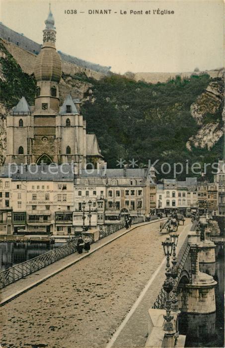 AK / Ansichtskarte Dinant_Wallonie Pont Eglise  Dinant Wallonie