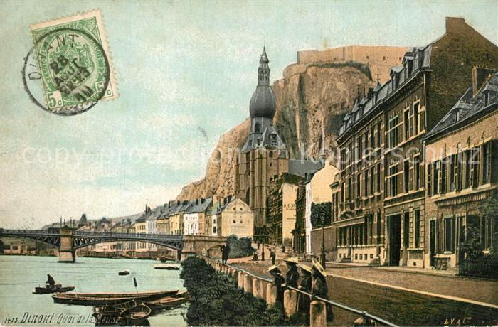 AK / Ansichtskarte Dinant_Wallonie Quai de la Meuse  Dinant Wallonie