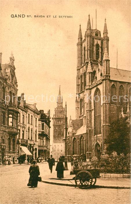AK / Ansichtskarte Gand_Belgien St. Bavon Beffroi Gand Belgien