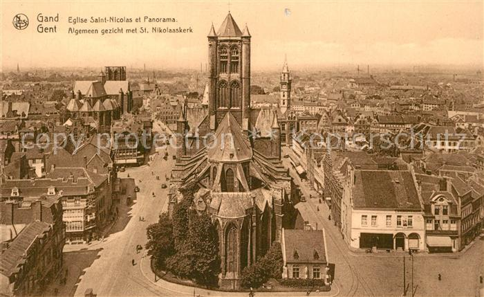 AK / Ansichtskarte Gand_Belgien Eglise Saint Nicolas  Gand Belgien