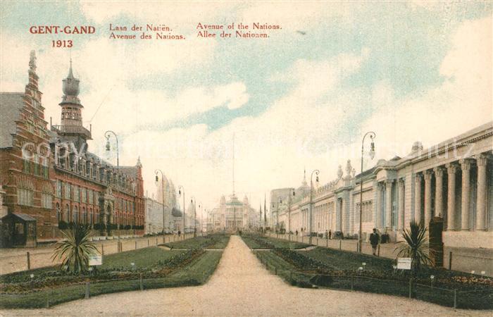 AK / Ansichtskarte Gand_Belgien Avenue des Nations Gand Belgien
