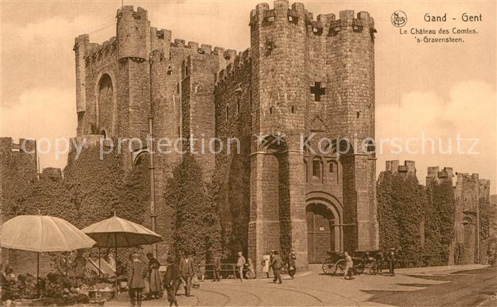 AK / Ansichtskarte Gand_Belgien Chateau des Comtes s Gravensteen Gand Belgien
