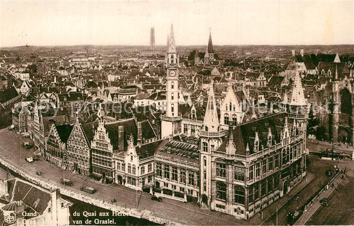 AK / Ansichtskarte Gand_Belgien Quai aux Herbes  Gand Belgien
